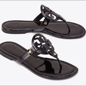 Tory Burch patent leather black sandals